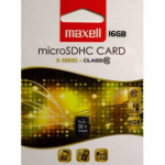 MAXELL MICRO SDHC 16GB X-SERIES+ADAPTER, CLASS 10