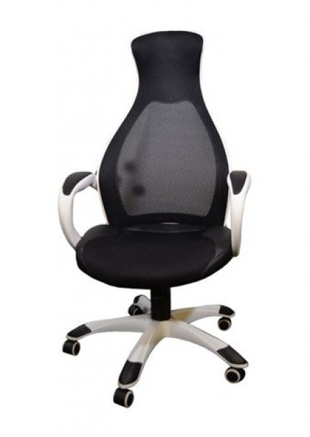 Office Chair Executive DS-019 Black/White (Mesh,PU) ( DS-019 )