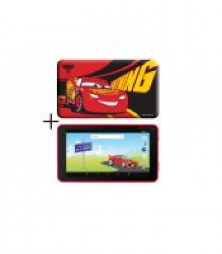 "eSTAR Themed Tablet Cars 3 7"" ARM A7 QC 1.2GHz/1GB/8GB/0.3MP/WiFi/Android 7.1/Red/Cars futrola"