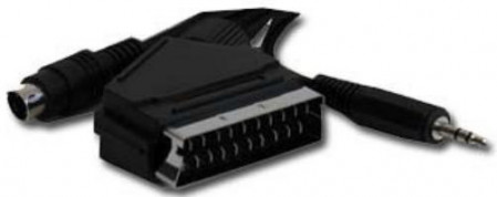 Gembird SCART plug to S-Video+audio kabl 10m (CCV-4444-10M)