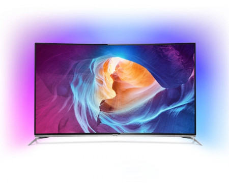 """Philips 65"""" 65PUS8700/12 Smart 3D LED 4K Curved UHD Android Ambilight digital LCD TV"""