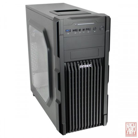 "Antec GX200 Window, GX Series, ATX, 1x5.25"", 4x3.5"", 1x2.5"", USB3.0, 2x120mm blue"