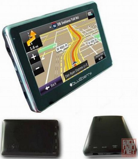 "Blueberry GPS Navigations 2go447, 4.3"" TFT Touch-screen, 4GB internal memory, FM Transmitter, Multimedia, microSD, Car Holder and Charger, USB, WinCE 6.0"