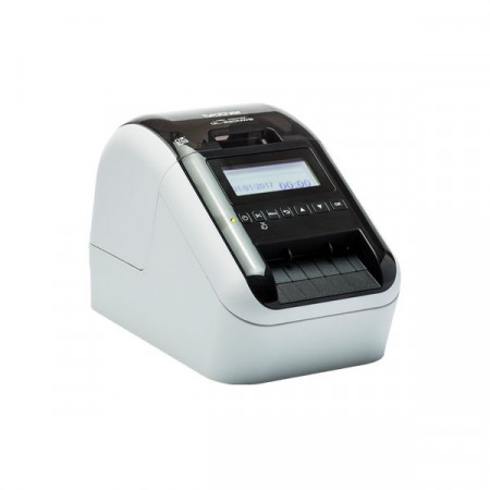 Brother QL-820NWB, Label Printer, DK Rolls up to 62 mm width, 148 mm/s print speed, 300 dpi, USB 2.0, Wi-Fi&Wired, Bluetooth, Stand-alone printing, Black/Red printing, USB cable, AC adapter&power cord documentation, Optional Li-ion battery