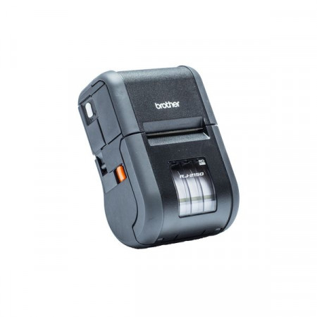 Brother RJ-2150, Rugged Mobile Printer, Direct Thermal, 203dpi, Integrated LCD screen, USB/Bluetooth/Wi-Fi