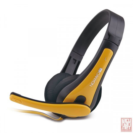 CANYON CNS-CHSC1BY, Headphones with microphone, yellow