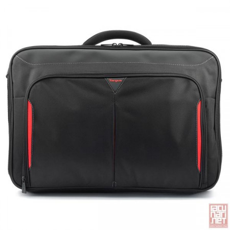 "Targus Classic Clamshell Laptop Bag, 18"", torba za notebook, black-red (CN418EU)"