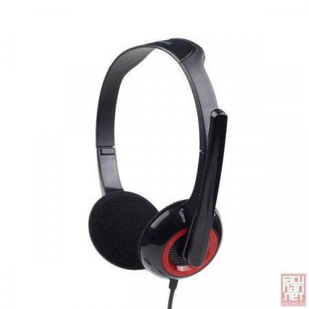 Gembird MHS-002, Stereo headphones with microphone, 3.5mm, black