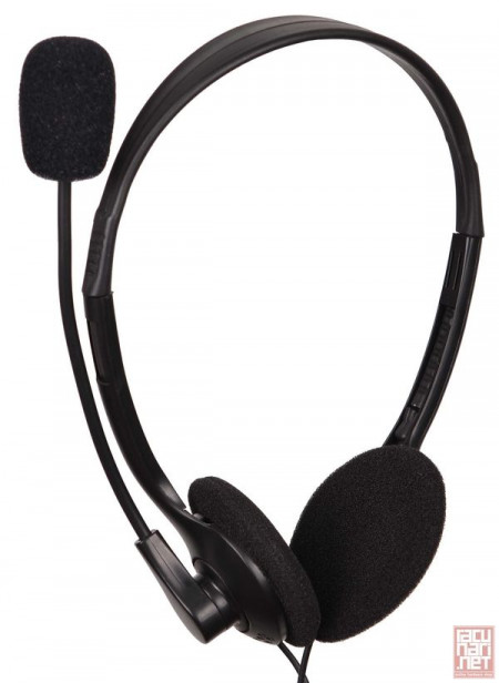 Gembird MHS-123, Stereo headphones with microphone, 3.5mm, black