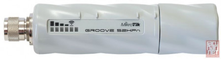 MikroTik RouterBoard Groove 52HPn - 1xLAN (PoE), 2GHz/5GHz 802.11a/n, 64MB RAM sa RouterOS L3, N(m) konektor, PoE injector + AC/DC adapter 24V