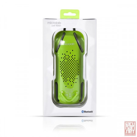 Microlab D22, Bluetooth Speaker System, 2x3.5W, Rechargeable, microSD, 3.5mm jack, green