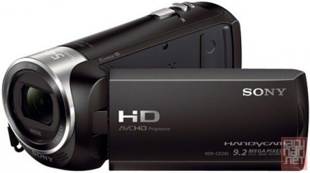 """Sony HDR-CX240E, 9.2Mpix, CMOS, Full HD, Flash Memory HD Camcorder, 27x optical zoom, 54x extended zoom, MS/SDcard, 2.7"""" LCD, USB/HDMI"""