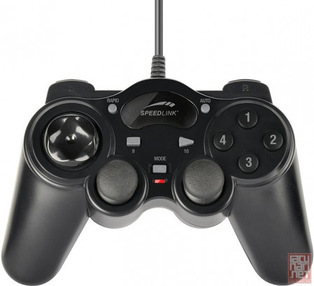 Speedlink THUNDERSTRIKE, 8 front and 4 shoulder buttons/2 precise analogue sticks, USB (SL-6515-BK)