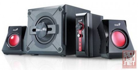 Genius SW-G2.1 1250, speaker system 2.1, 38 watts RMS, black
