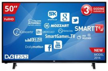 "Vox 50"" 50YSD550 LED Full HD Smart DVB-T2 televizor"